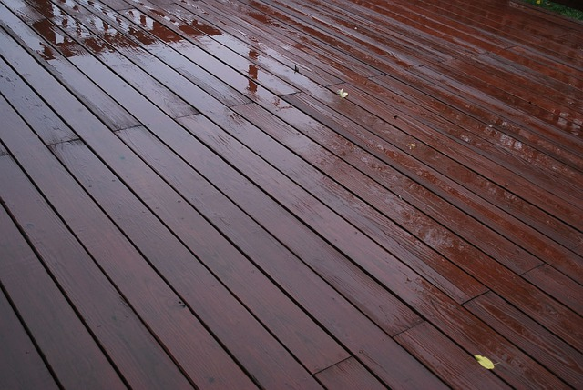 Garden decking in Crawley